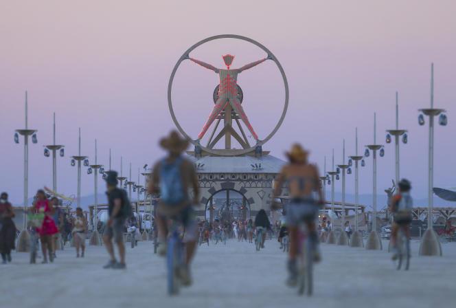 Le fameux Burning Man avant d'être brûlé.
