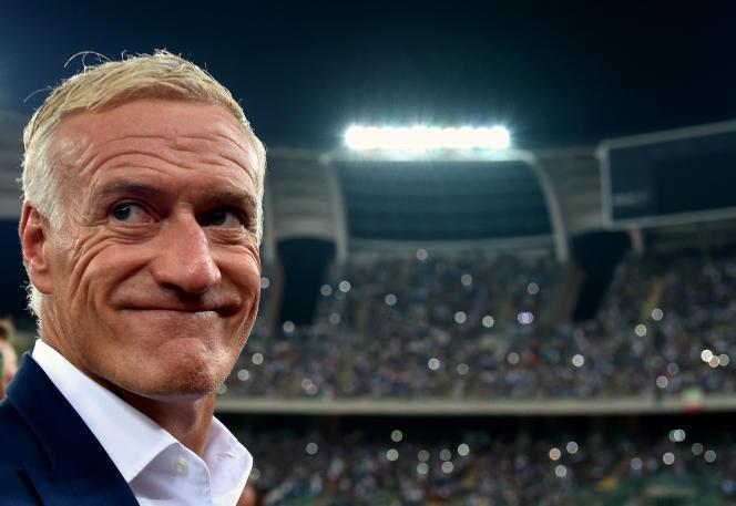 Le sélectionneur de l'équipe de FranceDidier Deschamps, le 1er septembre à Bari.