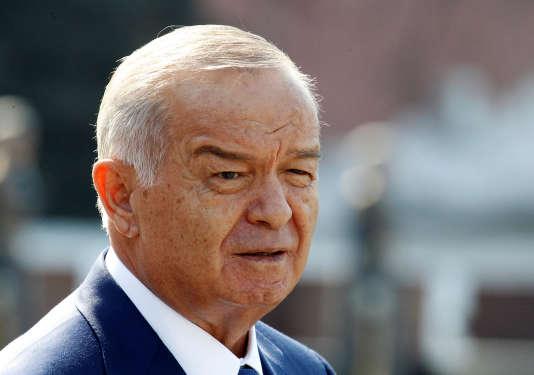 Islam Karimov à Moscou, en avril 2013.