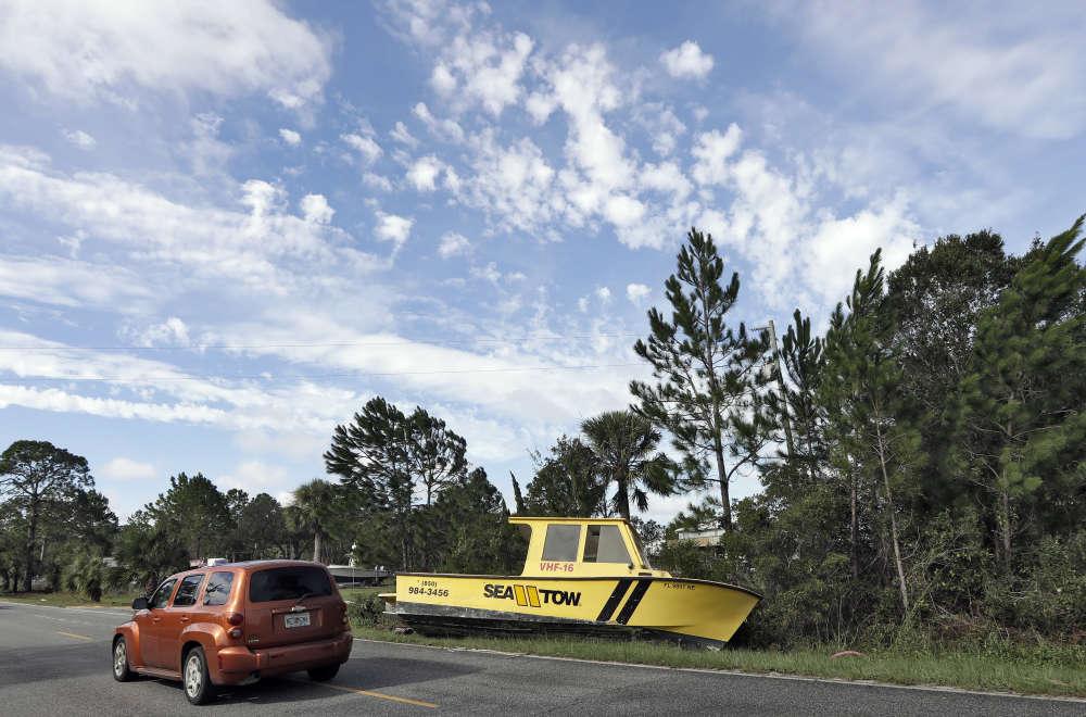 Dégâts faits par la tempête Hermine le 2 septembre à Dekle Beach, Floride.