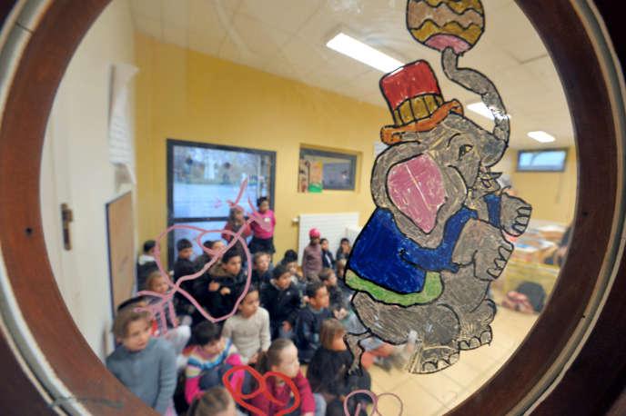 Dans une école maternelle d'Hérouville-Saint-Clair.