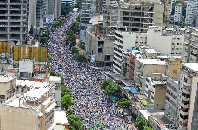 Les manifestants anti-Maduro étaient près d'un million selon les organisateurs, le 1er septembre, à Caracas.