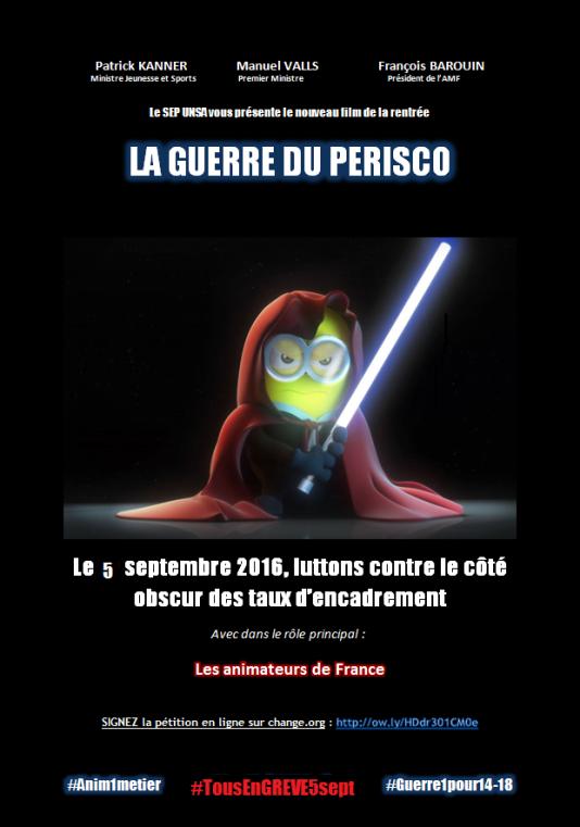 Les affiches de l'UNSA appelant à la grève du 5 septembre.