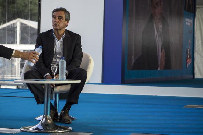 François Fillon lors des universités d'été du Medef, le 30 août 2016.