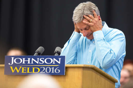 Gary Johnson, le 3 septembre 2016 dans l'Iowa.