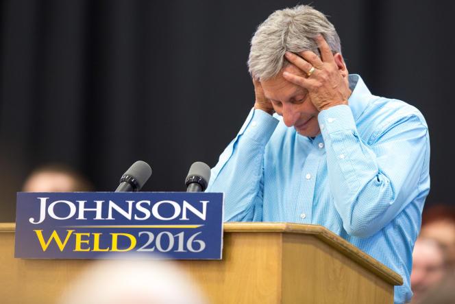Gary Johnson, le 3 septembre 2016 dans l'Iowa.