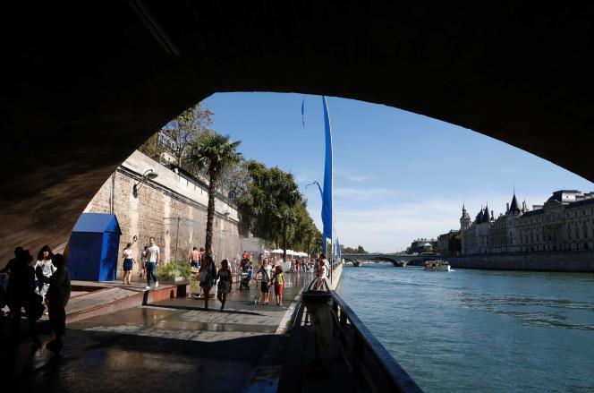 La voie Georges-Pompidou, à Paris, lors de Paris-Plage, le 3 septembre.