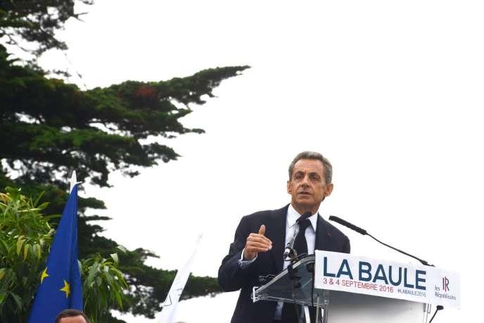Nicolas Sarkozy à La Baule (Loire-Atlantique), le 4septembre.