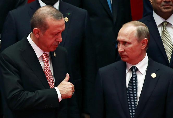 Recep Tayyip Erdogan et Vladimir Poutine au G20, à Hangzhou, le 4 septembre.