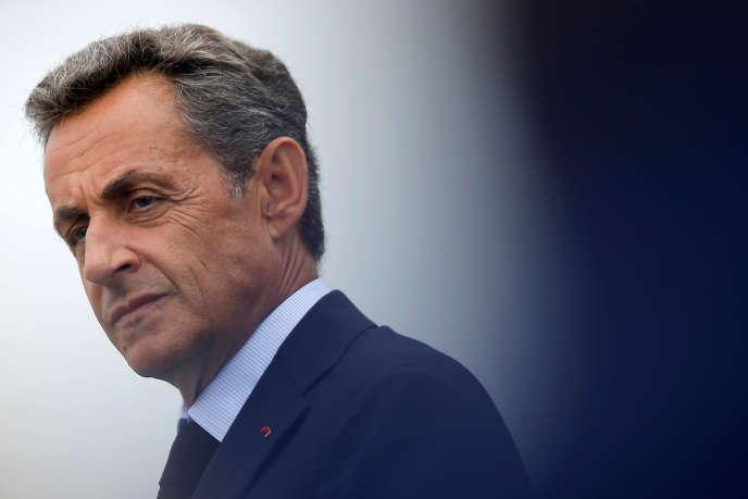 Nicolas Sarkozy à l'université d'été du parti Les Républicains, le 4 septembre.