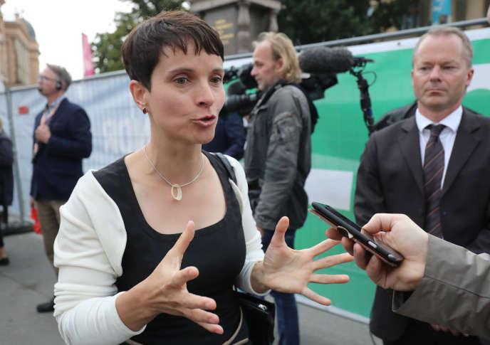 Frauke Petry, porte-parole d'Alternative pour l'Allemagne, le 4 septembre à Schwerin.