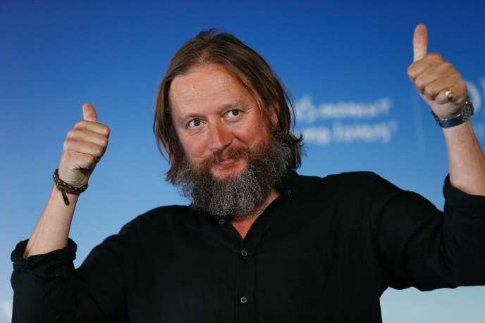 Le réalisateur David Mackenzie lors de la projection de « Comancheria» au 42e Festival du film américain de Deauville, le 4 septembre 2016.