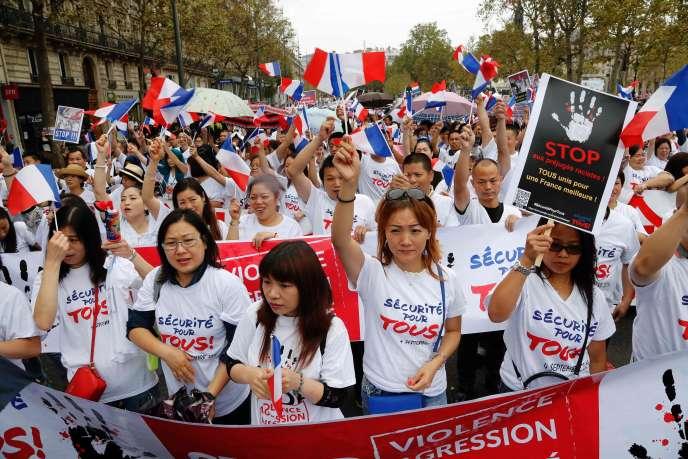 Manifestation de la communauté chinoise à Paris, le dimanche 4 septembre.