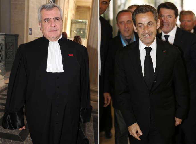 L'avocat Thierry Herzog et Nicolas Sarkozy, en 2014.