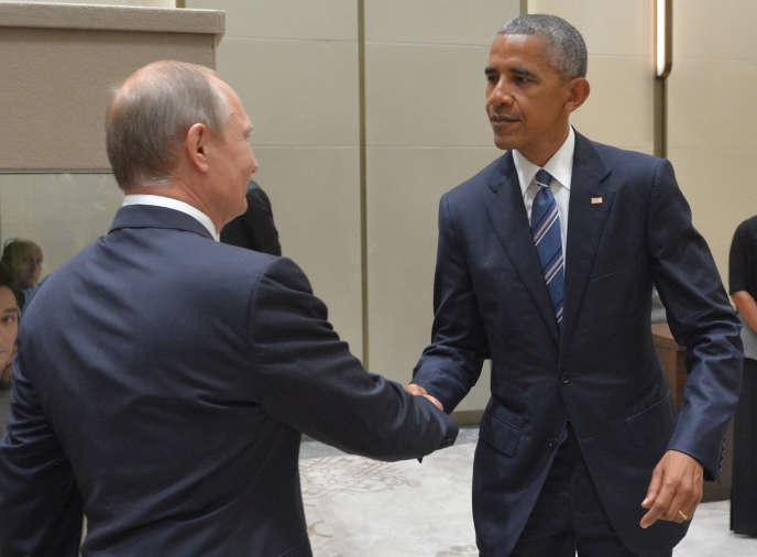 Vladimir Poutine et Barack Obama, le 5 septembre, lors d'une rencontre en Chine.