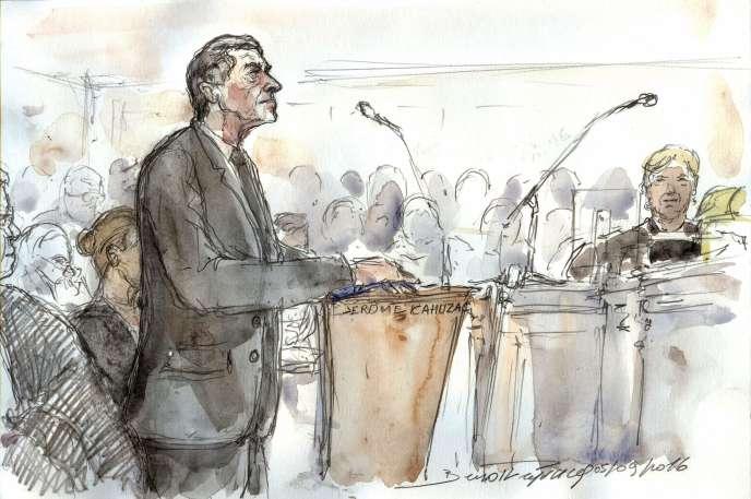 Jérôme Cahuzac, jugé pour fraude fiscal, au tribunal correctionnel de Paris, le5septembre.