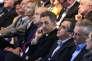 De gauche à droite, Marielle de Sarnez ,Alain Juppé, Nicolas Sarkozy, Francois Fillon et Bruno Le Maire le 27septembre 2015 à Nogent-sur-Marne.