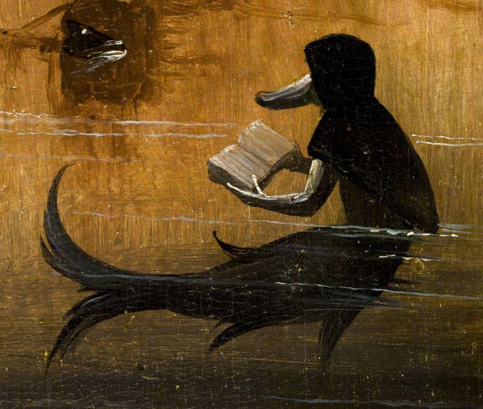 Détail du panneau gauche du triptyque« Le Jardin des délices» deHieronymus Bosch.«The Paradise»