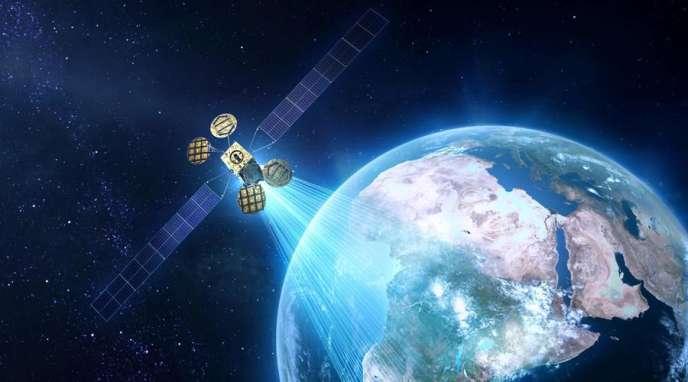 Maquette du satellite AMOS-6.