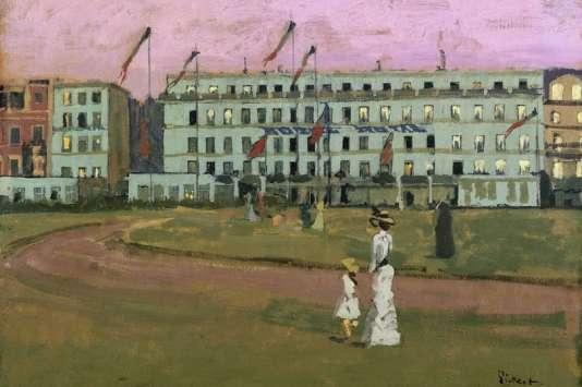 « L'Hôtel Royal, Dieppe » (1894), deWalter Sickert – huile sur toile.