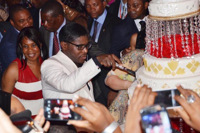 Teodorin Obiang Nguema fête son 41e anniversaire à Malabo, capitale de la Guinée équatoriale en juin 2010.