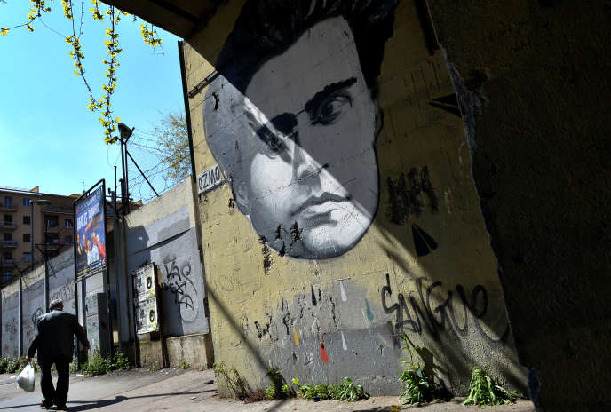 Portrait d'Antonio Gramsci par le graffeur Ozmo, dans les rues de Rome.