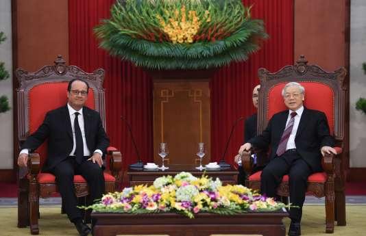 Francois Hollande, le 6 septembre à Hanoï.