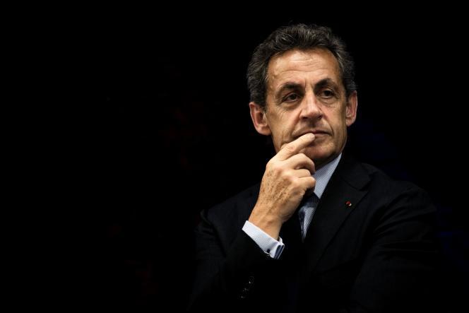 Nicolas Sarkozy à Jonage (métropole de Lyon), le 12 mai.