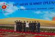 Les dirigeants de l'Association des nations de l'Asie du Sud-Est, lors du 28e sommet de l'Asean, à Vientiane, au Laos, le 6 septembre. 2016. Deuxième à partir de la gauche, le premier ministre de Singapour,Lee Hsien Loong.