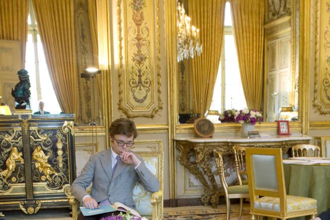 Le conseiller du président Hollande pour le commerce Jean-Jacques Barberis, au palais de l'Elysée, le 4 avril 2014.