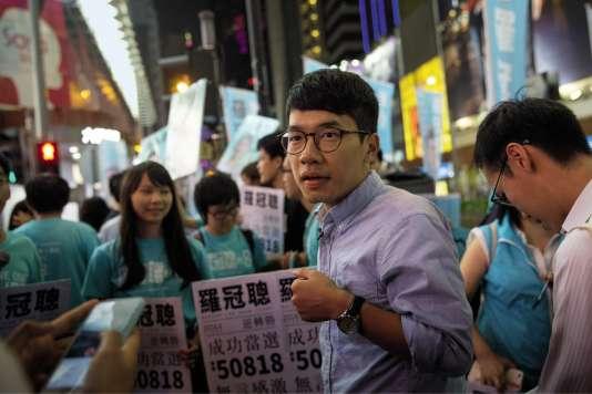 Nathan Law a été élu député, le 4 septembre à Hongkong