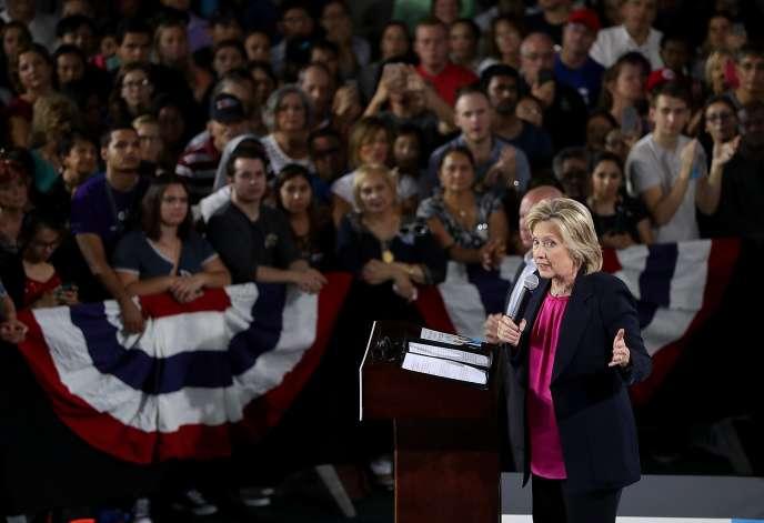 Hillary Clinton, le 6 septembre à Tampa.