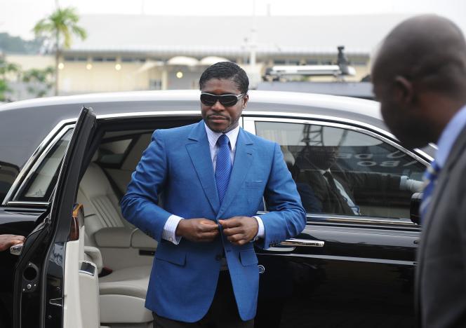 Teodorin Nguema Obiang, fils du président de la Guinée équatoriale, à Malabo, le 24 juin 2013.