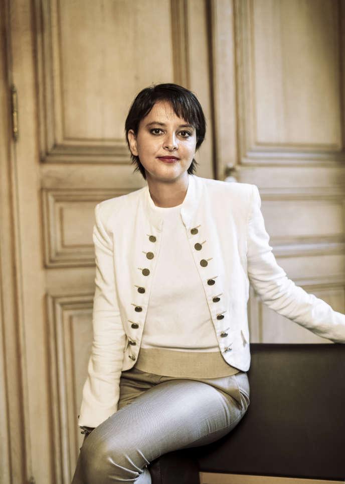 Najat Vallaud-Belkacem au ministère de l'éducation nationale le 29 août 2016.
