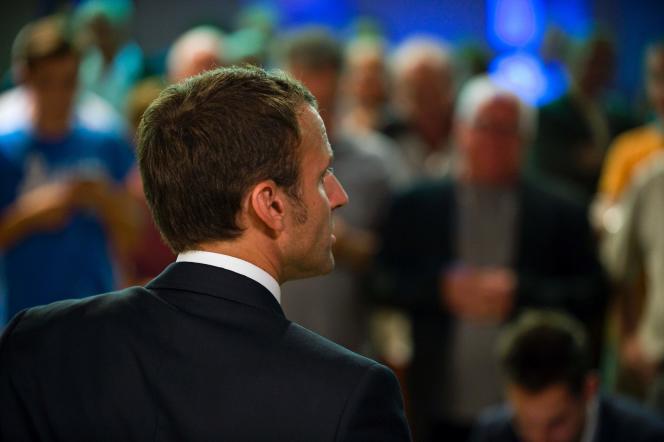 Emmanuel Macron, à Aurillac, le 7 septembre.