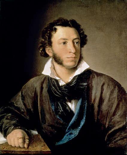 Portrait d'Alexandre Pouchkine (1799-1837) par Vasilii Andreevitch Tropinin. L'écrivain, héros national en Russie, a rendu un hommage à son aïeul Hanibal dans «Le Nègre de Pierre le Grand», une œuvre inachevée.