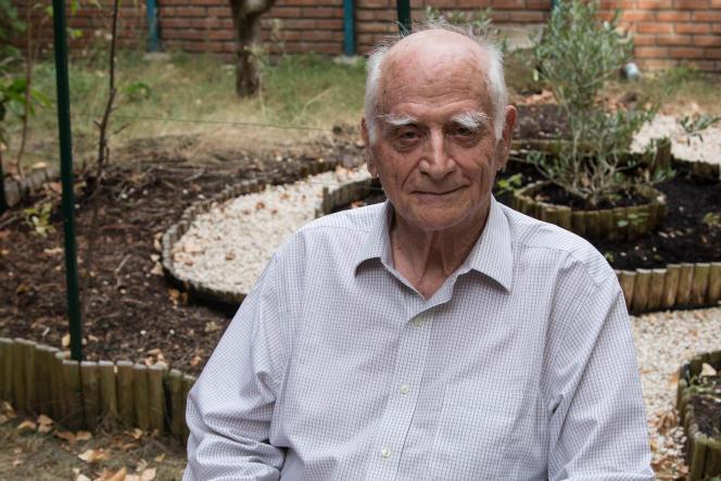 Michel Serres, lors d'un entretien donné au «Monde» le 2 septembre 2016.