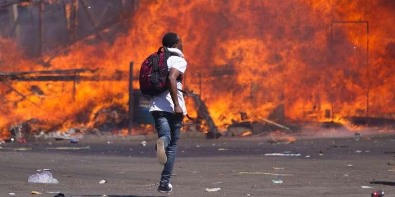 Une manifestation de l'opposition le 26 août 2016 à Hararé.