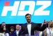 Andrej Plenkovic, nouveau président duparti HDZ (Union démocratique croate, droite nationaliste), le 8 septembre, à Zagreb.