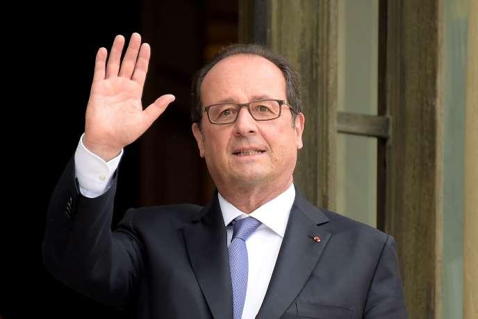 Le président de la République, Francois Hollande, le 8 septembre 2016, au palais de l'Elysée.