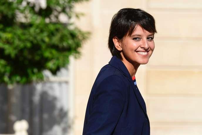 Najat Vallaud-Belkacem à l'Elysée le 8 septembre.