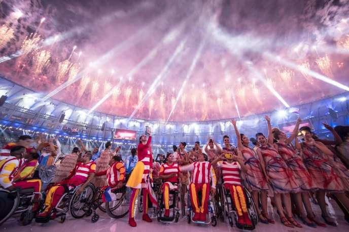 Cérémonie d'ouverture des Jeux paralympiques au stade Maracana de Rio, le 7 septembre.