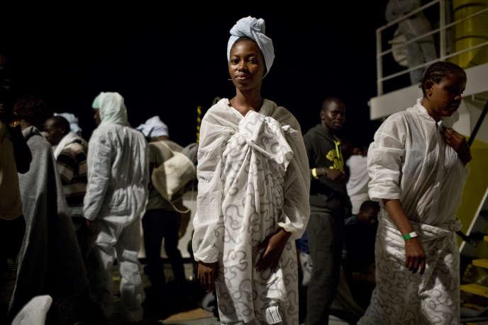 Victoria, nigérienne a fait la traversée de le mer méditerranée à bord de l'Aquarius.