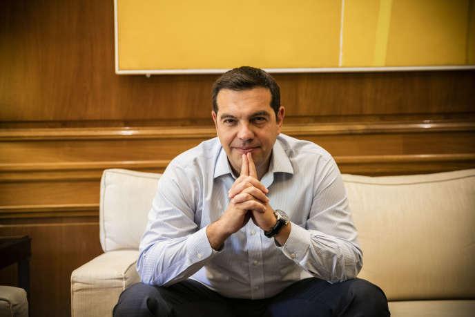 Alexis Tsipras dans son bureau le 7 septembre à Athènes.