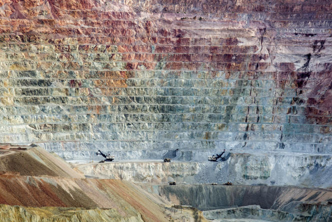 A Santa Rita (Nouveau Mexique) la mine de cuivre et de molybdène à ciel ouvert de Chino est exploitée par Freeport McMoRan, en 2015.