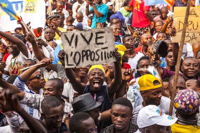 Manifestation de l'opposition, au Congo-Kinshasa, le 31 juillet 2016.