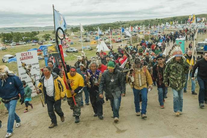La mobilisation perdure dans le Dakota du Nord, le 9 septembre.