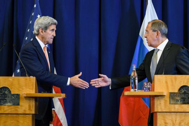 John Kerry et Sergueï Lavrov à Genève, le 9 septembre 2016.