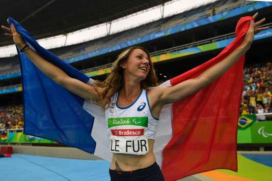 MarieAmelie le Fur après sa victoire en saut en longeur à Rio le 9 septembre.