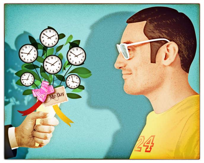 «Les Etats-Unis ont une approche des vacances très différente des Européens. Les Américains partent moins longtemps et ne prennent pas tout leur quota de congés» (Illustration:«Du temps pour soi»).